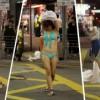 Cô gái thản nhiên khỏa thân giữa phố