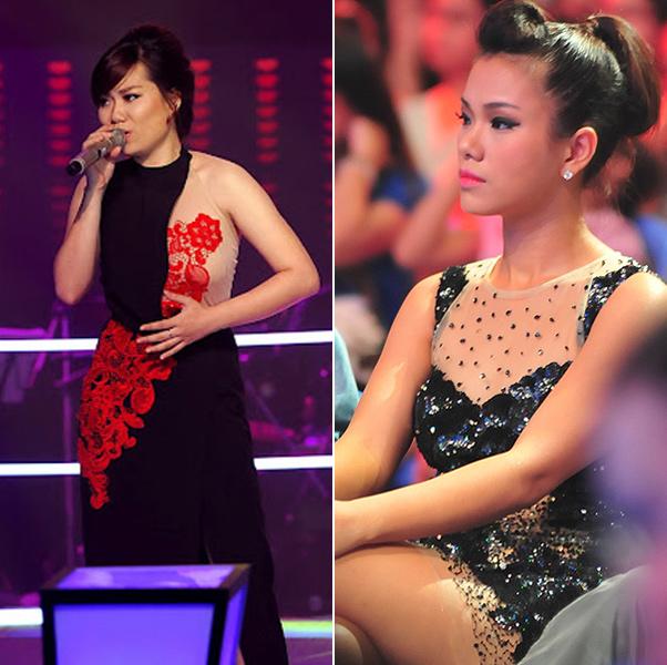 Thí sinh The Voice và Phương Vy cũng diện váy theo phong cách này.